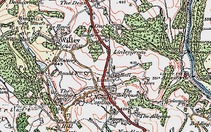 Old map of Linleygreen in 1921