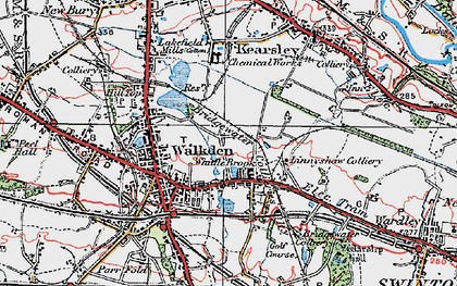 Old map of Linnyshaw in 1924
