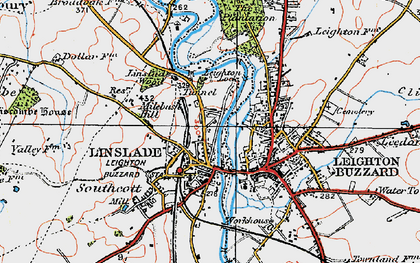 Old map of Linslade in 1920