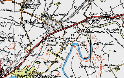 Old map of Linstock in 1925
