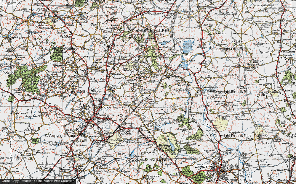 Old Map of Linthurst, 1919 in 1919