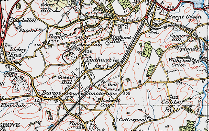 Old map of Linthurst in 1919