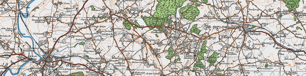 Old map of Linton Wood in 1919