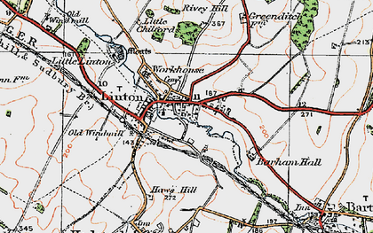 Old map of Barham Hall in 1920