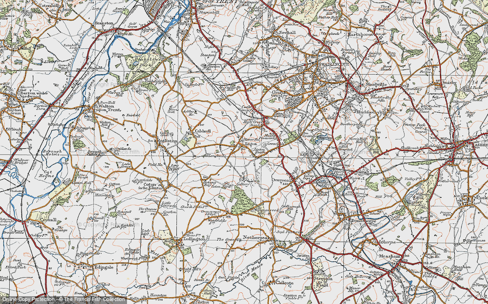 Old Map of Linton, 1921 in 1921