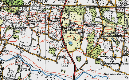 Old map of Linton Park in 1921