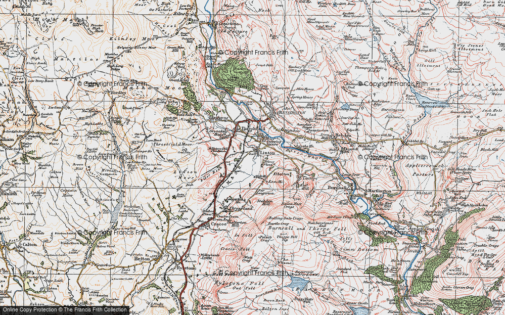 Old Map of Linton, 1925 in 1925