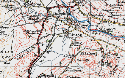 Old map of Linton in 1925
