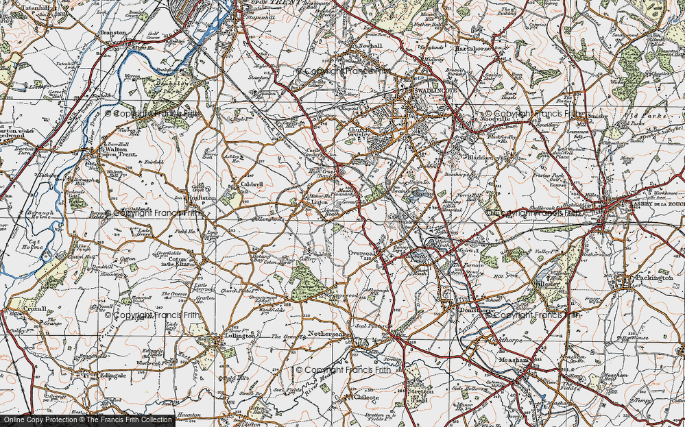 Old Map of Linton Heath, 1921 in 1921
