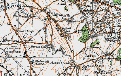 Old map of Linton Hill in 1919
