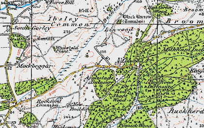 Old map of Linwood in 1919