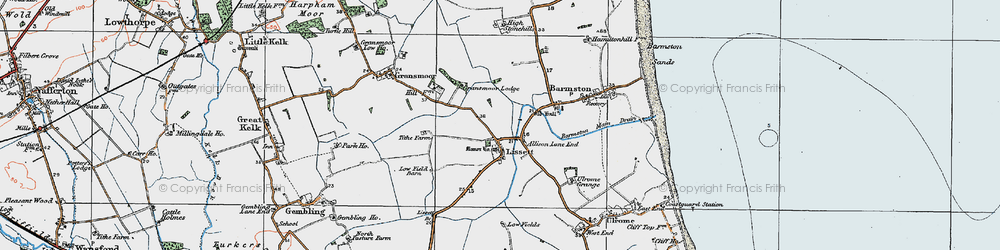 Old map of Allison Lane End in 1924
