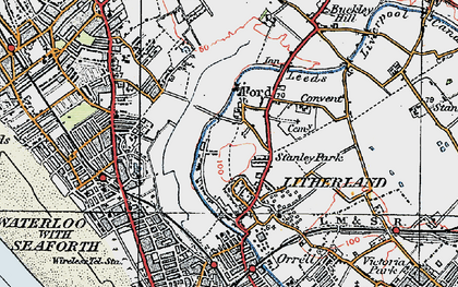 Old map of Litherland in 1923
