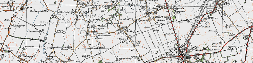 Old map of Limlow Hill in 1920