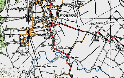 Old map of Alt Bridge in 1923