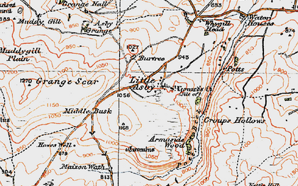 Old map of Asby Grange in 1925
