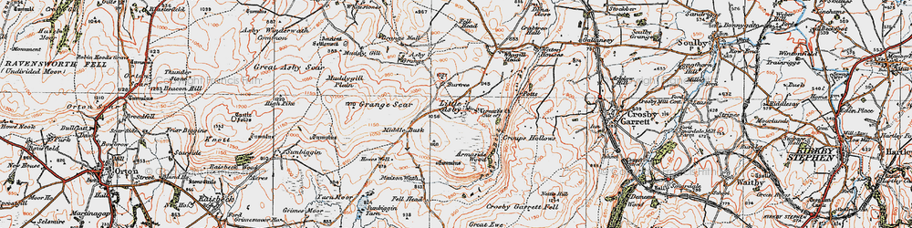 Old map of Whygill Head in 1925