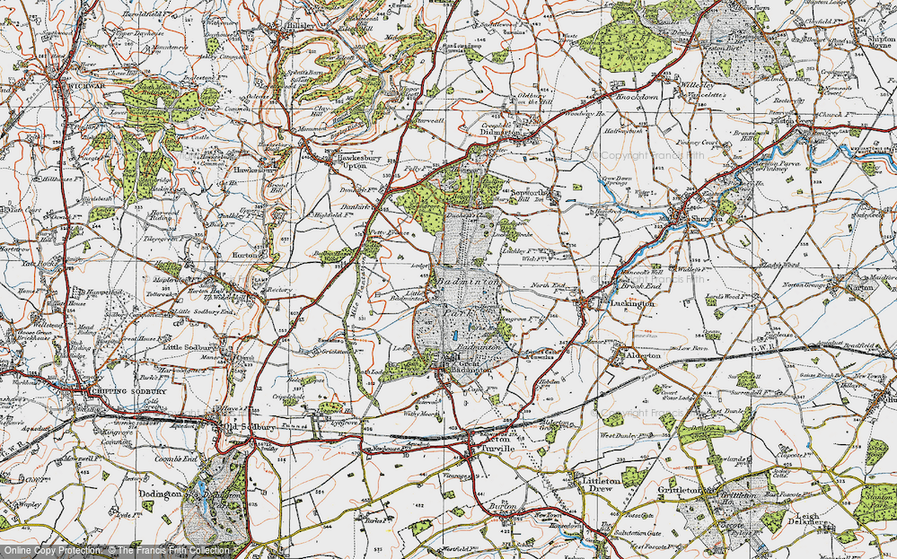 Old Map of Historic Map covering American Barn in 1919