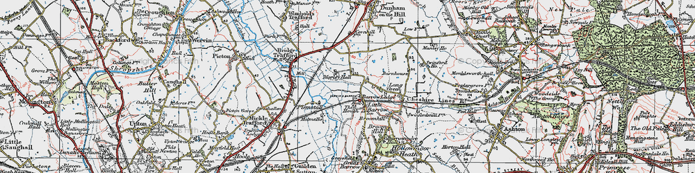 Old map of Ardmore in 1924