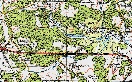 Old map of Bayham Abbey in 1920