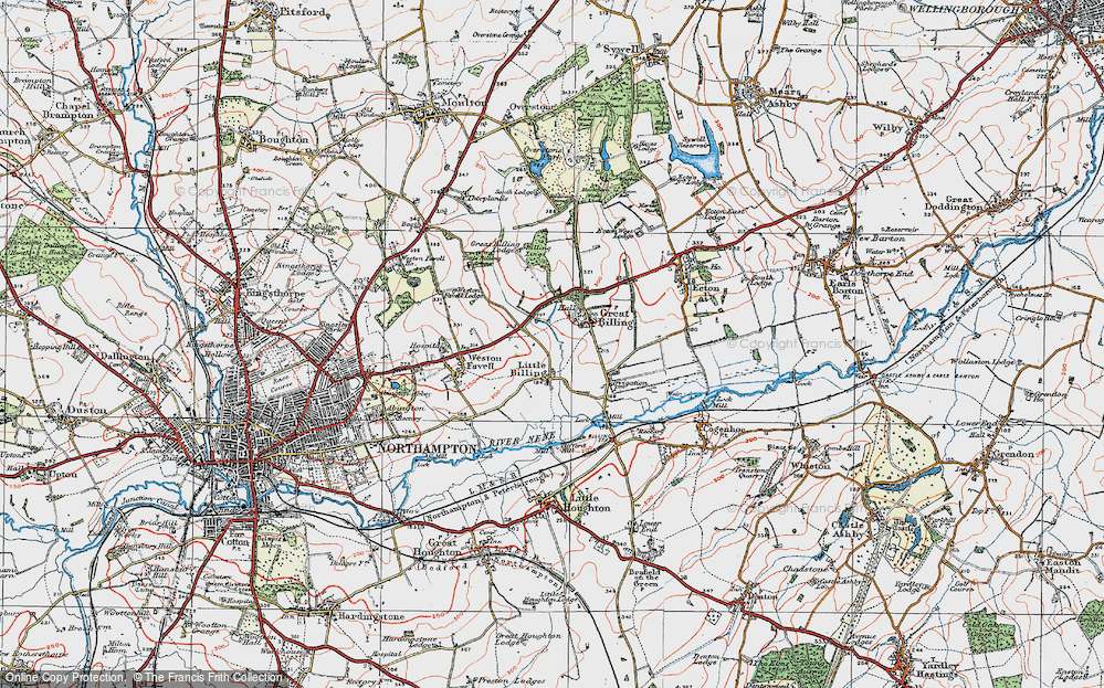 Billing Aquadrome Map Old Maps of Billing Aquadrome   Francis Frith