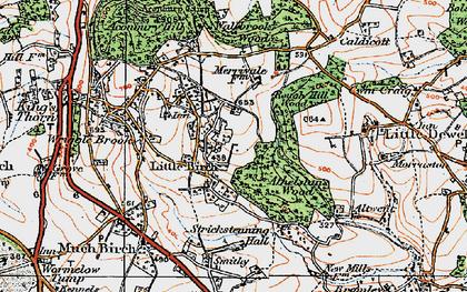 Old map of Aconbury Court in 1919