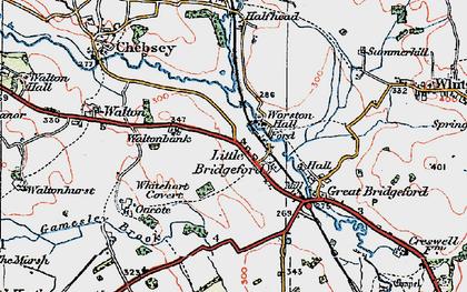 Old map of Whitehart Covert in 1921
