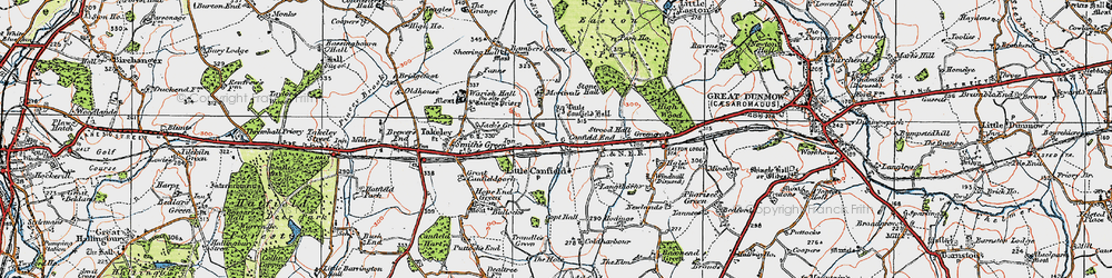 Old map of Langthorns in 1919