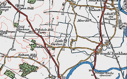 Old map of Little Carlton in 1923