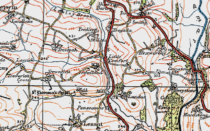 Old map of Little Comfort in 1919