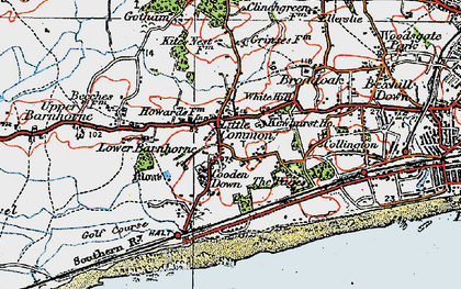 Old map of Little Common in 1921