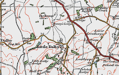 Old map of Wild's Lodge in 1921