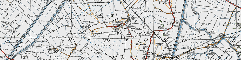 Old map of Westmoor Common in 1920