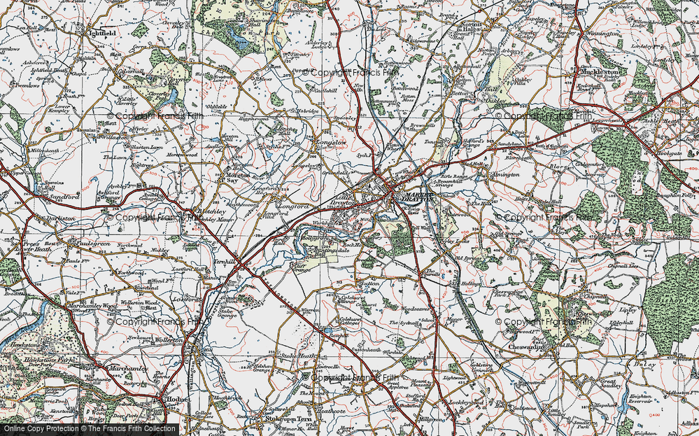 Old Map of Historic Map covering Pell Wall in 1921