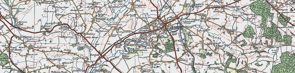 Old map of Pell Wall in 1921
