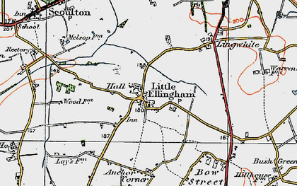 Old map of Lingwhite in 1921