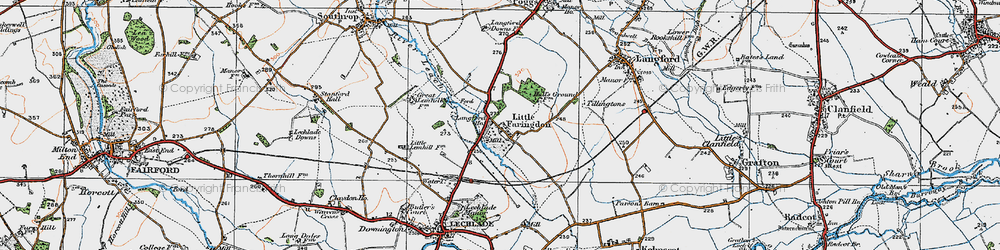 Old map of Langford Ho in 1919