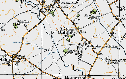 Old map of Alconbury Brook in 1920