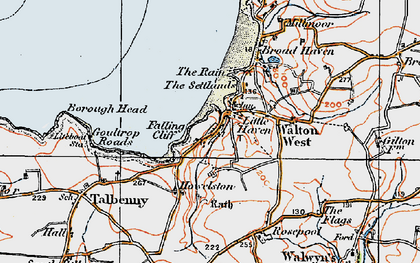 Old map of Little Haven in 1922