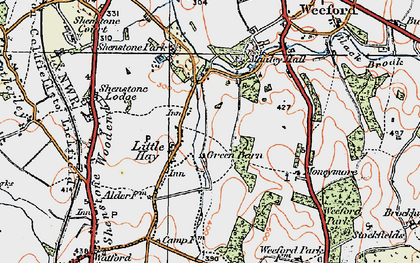 Old map of Moneymore in 1921