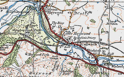 Old map of Abraham's Valley in 1921