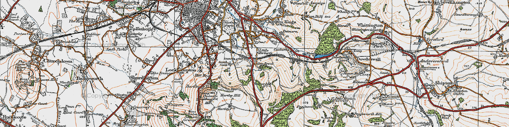 Old map of Wistley Hill in 1919
