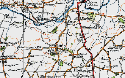 Old map of Wissington in 1921
