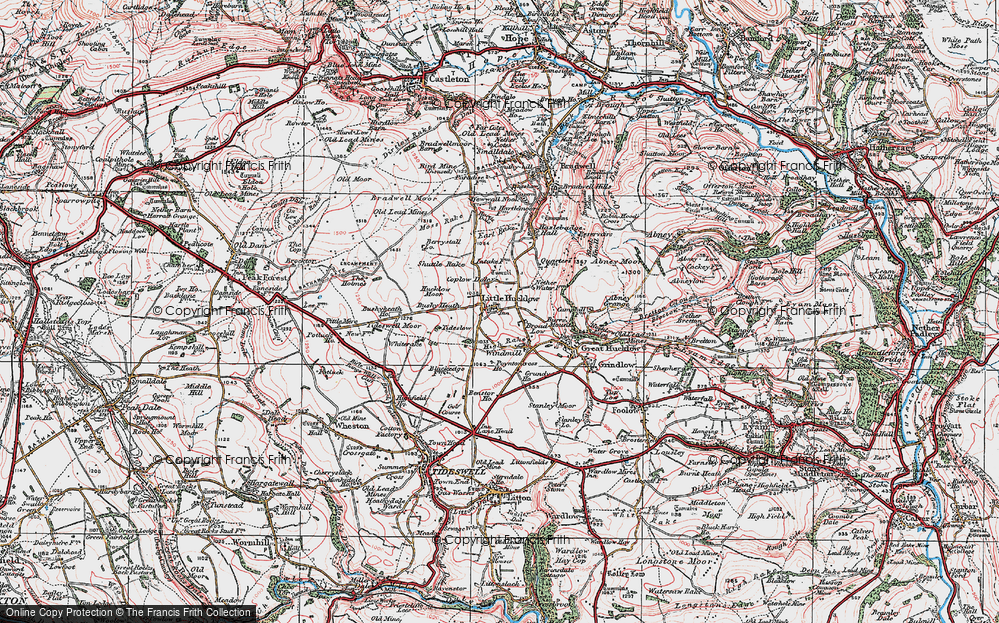 Old Map of Historic Map covering Whiterake in 1923
