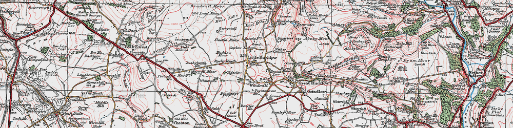 Old map of Whiterake in 1923