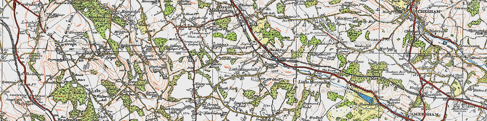 Old map of Little Kingshill in 1919