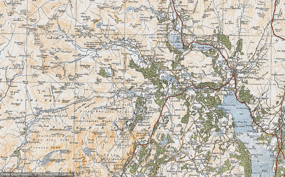 Old Map of Little Langdale, 1925 in 1925