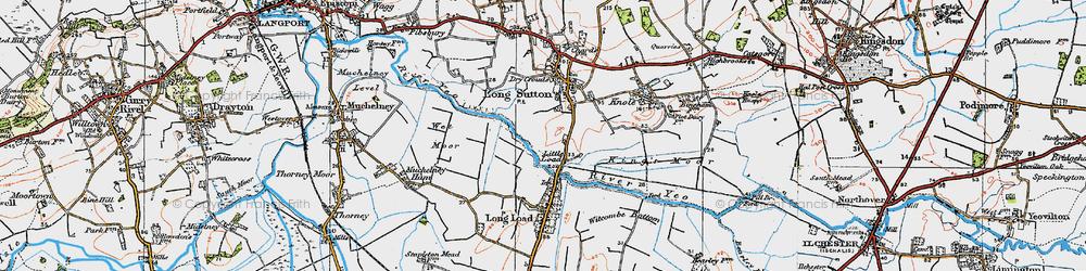 Old map of Wet Moor in 1919