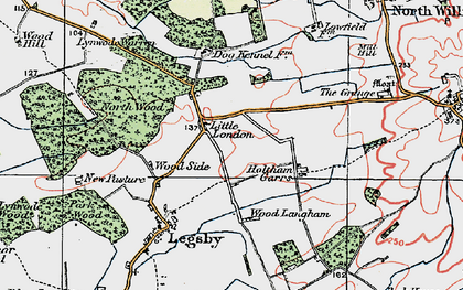 Old map of Wood Side in 1923