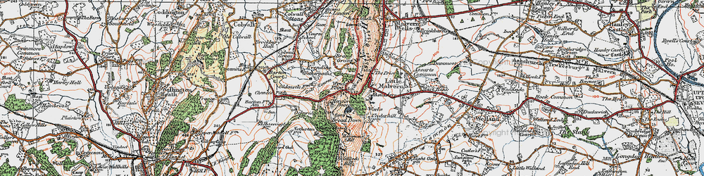 Old map of Little Malvern in 1920
